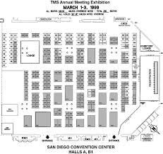 Exhibit Floor Plan About The 1999 Tms Annual Meeting