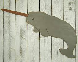 wooden narwhal etsy