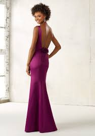 fitted bridesmaid dresses fitted satin bridesmaids dress style 21519 morilee