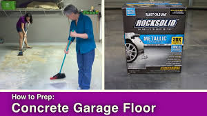 Rustoleum Garage Floor Coating Kit Instructions by Concrete Garage Floor Prep For Coating Youtube