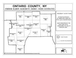 New York State County Map by Radon New York State Department Of Health Wadsworth Center