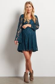 green lace bell sleeve dress tunic