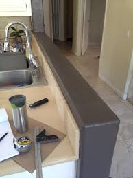 installing walnut countertop on knee wall woodweb u0027s cabinet and