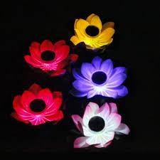Solar Floating Pond Lights by Solar 7 Color Changing Led Floating Light Lotus Lamp For Garden