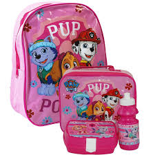 paw patrol backpack bag lunch bag case sandwich box