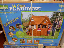 Costco Playground Awesome Kid U0027s Playhouse For Outside 100 Cedar Found It At