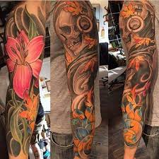 155 kick sleeve tattoos for guys gals