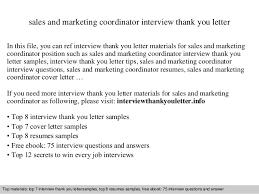 sales and marketing coordinator