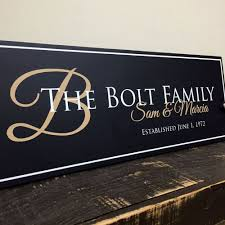 family established sign personalized family name sign last name