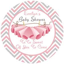 baby shower tutu personalized favor sticker baby baby