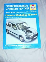 citroen berlingo peugeot partner 1996 2005 petrol diesel haynes