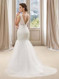 mermaid wedding dress with v neck and back deo bridals