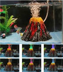new artificial aquarium volcano decoration fish tank volcano
