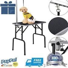 table top grooming table costway 32 adjustable pet dog cat grooming table top foam arm small