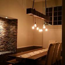 wood beam light fixture reclaimed wood beam chandelier with edison bulbs fama creations