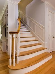 custom wooden stair treads and risers