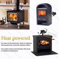 heat powered wood fireplace stove fan for wood gas pellet stoves