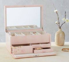 Pottery Barn Travel Jewelry Case Mckenna Leather Large Jewelry Box White Large Jewelry Box Box
