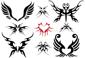tattoo design set stock photo image 8237360