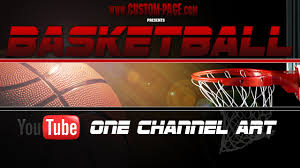 basketball youtube one channel art template photoshop psd youtube