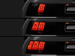 96 98 mustang tail lights raxiom mustang led sequential tail light kit plug and play 49222