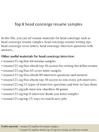 Objective Samples For Resumes by Download Concierge Resume Haadyaooverbayresort Com