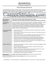 guidance counselor resume professional school counselor resume school guidance counselor