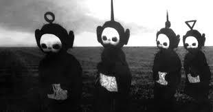 teletubbies black u0026 white horror show bored panda