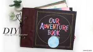 diy our adventure book cover inspired from disney pixar up apron
