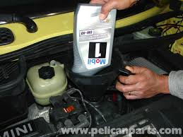 mini cooper oil change r50 r52 r53 2001 2006 pelican parts diy