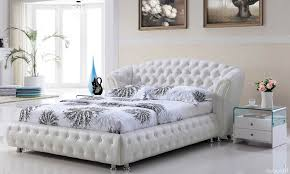 Bedroom Simple And Cozy White Bedroom Set Modern White Bedroom - White leather queen bedroom set
