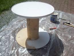 table basse touret bois pas à pas touret en mosaïque cultura