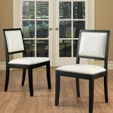 White Leather Dining Chairs Uk by Black And White Leather Dining Chairs Modern Chairs Design