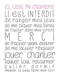 affiche ici c est ma chambre messages childs bedroom and