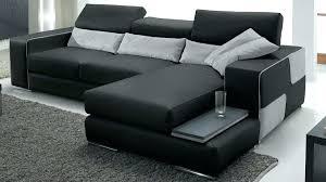 canape angle noir conforama canape angle reversible d canapac dangle racversible en cuir noir