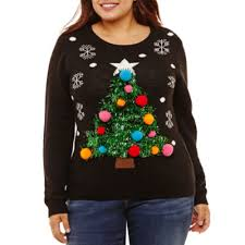 tree sweater juniors plus jcpenney