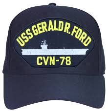 Ford Camo Trucker Hat - gerald r ford cvn 78 ship cap