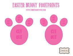how to make easter bunny footprints tidbits u0026twine