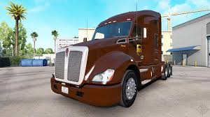 american truck kenworth ups skin for the kenworth tractor for american truck simulator