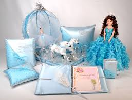 quinceanera packages cinderella quinceanera package toasting set doll pillows guest