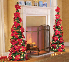 Brylane Home Christmas Decorations Amazon Com Lighted Poinsettia Pull Up Christmas Tree By