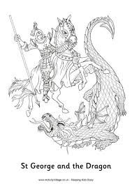 st george dragon colouring