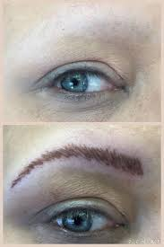 before and after permanent eyebrow using the softap