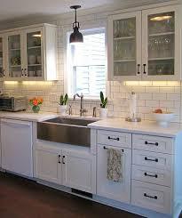 Kitchen Apron Sink Joyce S Black White Kitchen Hooked On Houses In Farmhouse Sink