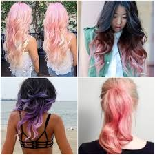 type of hair style tan skin pastels are a great choice for people who want non committal hair