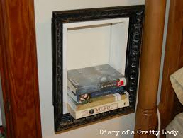 diary of a crafty lady picture frame book shelf