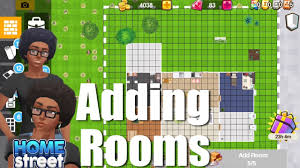 home street ios android game is availabe now how to add a room