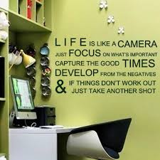 online shop life is like a camera inspirational wall stickers online shop life is like a camera inspirational wall stickers wall decals office wall quotes vinyl mural poster 35
