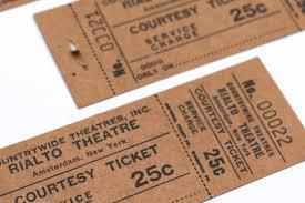 2 x vintage movie tickets rialto theater new york amsterdam