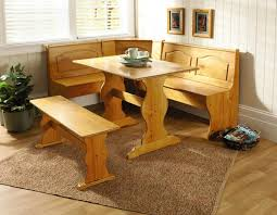 breakfast nook table only essential home 3 piece emily breakfast nook in pine